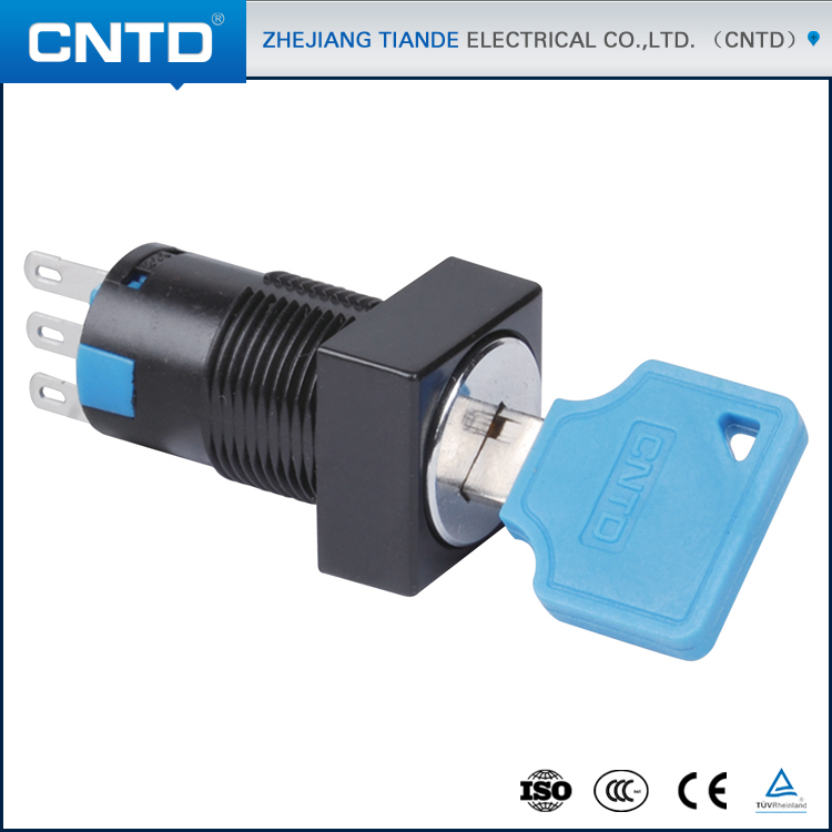 CNTD 2016 New Products Push Button Lamp Switches With Square Key Knob