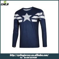 New Cheji Hero series Captain America long sleeve t shirts winter sports clothing