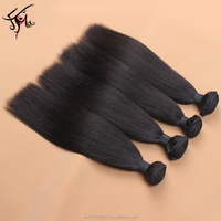 2017 trending ebony yaki express hair weave color 1b indian remy darling hair weaving