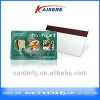 Plastic Privilege Cards With Magnetic Stripe