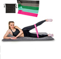 Resistance Loop Exercise Bands Set of 4 or 5 Natural Latex Workout Bands for Home Gym Fitness Exercise Bands