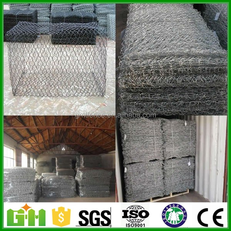 GM galvanized gabion mesh /stainless steel gabion basket/gabion mattress