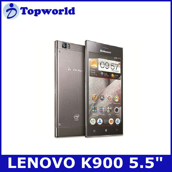 "2013 new arrival lenovo k900 smart phone Intel Atom Z2580 dual core android 4.2 smart phone 5.5"" screen"