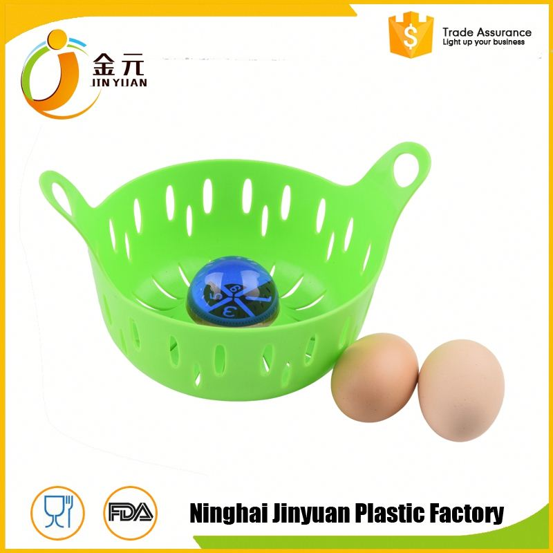 Promotion factory supply silicone microwave egg poacher