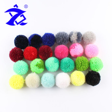 ZHENBO Brand Party Decoration 3.8CM Secondary Color Yarn Pompom Plush Pompons For Shoes