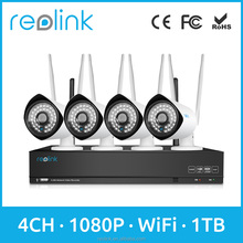 Reolink Home Security System 4ch Wireless NVR w Bullet WiFi IP Camera RLK4-210WB4