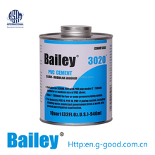 clear pvc pipe solvent cement / glue 3020 for water treatment system