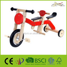 Double Seats Wooden Tricycles