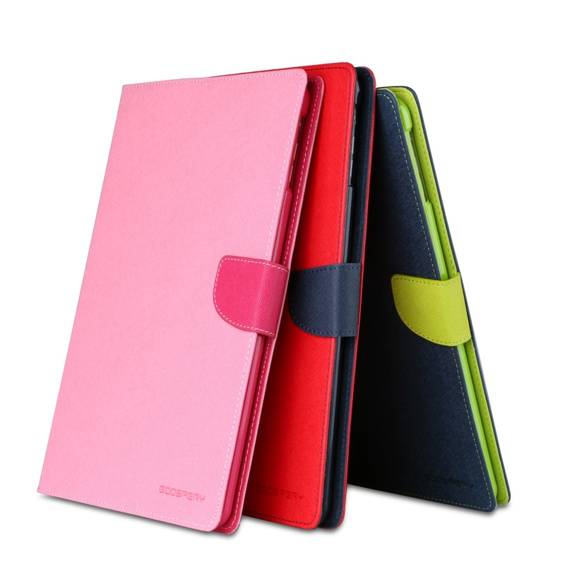 Stock Mercury Goospery Fancy Diary PU Wallet Flip Tablet Cover For Ipad Air 2 Leather Case