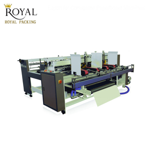 Semi Automatic AB papers carton folder gluer machine