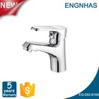 Single handle brushed chrome torneiras do banheiro