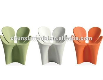 plastic modern clover chair,rotomolded