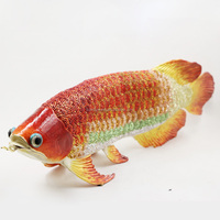 Art Collectible Colorful metal fish figurine for home decoration