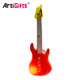 Printing Logo Guitar Shaped Flashing Custom Pop Cloth Led Badge