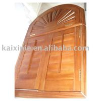 White Paint Basswood Arched kitchen window shutters