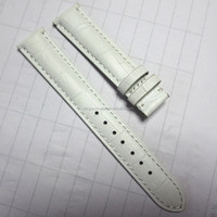 Popular white leather wrist watch band for women