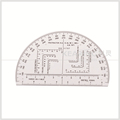 6 inch military scale protractor , transparent high quality protractor for military, half moon shape #KMP-1