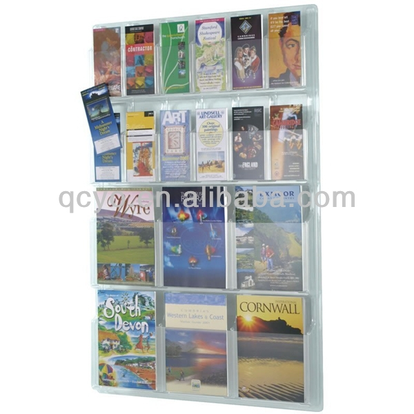 new design acrylic wall mount brochure holder