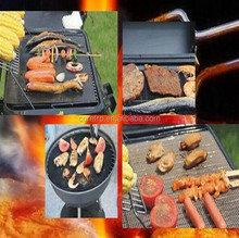 Non stick/reusable/fireproof charcoal PTFE bbq grill/cooking/baking mat/sheet/liner