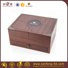 Fashion Sapele wooden jewellery collection box