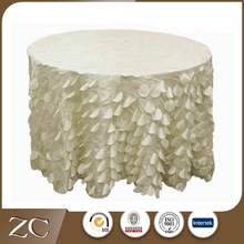 Chinese fashion design fish-scale wedding banquet table cloth