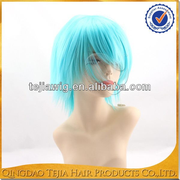 Crazy machine made dark blue synthetic wholesale naruto cosplay wig,cosplay bodys wig