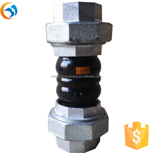factory PN16 BSPT union twin sphere rubber expansion joint