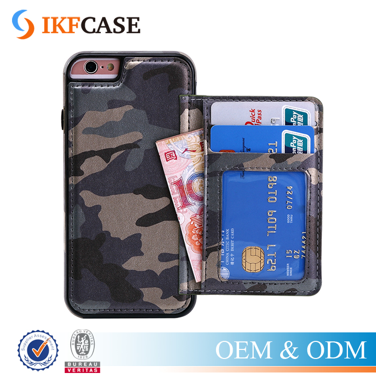 Multi-colors Camouflage Pattern PU Leather Accessories Phone Case for iPhone 6