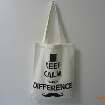 Large Screen Printing Ladies Eco Friendly Recycled Cotton Bags For Shopping