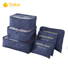 China wholesale customized luggage organizer packing cubes 6pcs travel pouch set
