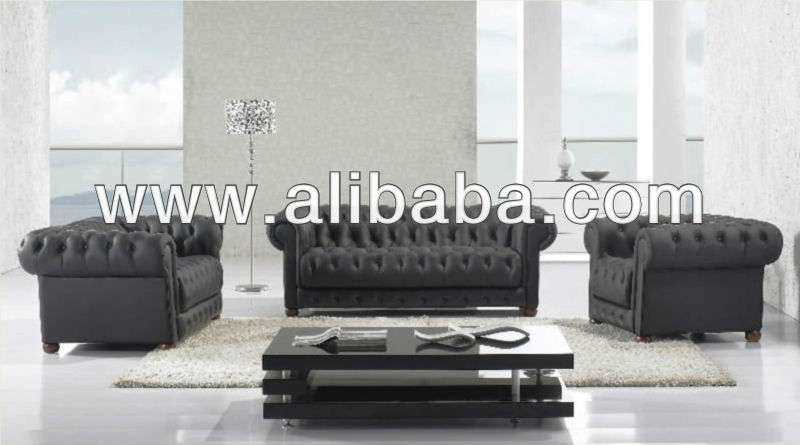 A leather corner seating