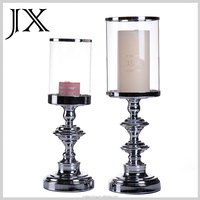 Metal Glass Candle Holder With Pyrex Glass Tube For Home Decoration