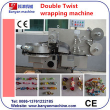YB-800 soft hard candy center filling double ends twist wrapping packing machine