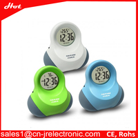 Executive desk clock touch activate time and temperature readout digital snooze alarm clock with digital numbers