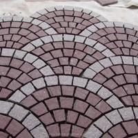 Interlocking grey tumbled granite driveway paving stones