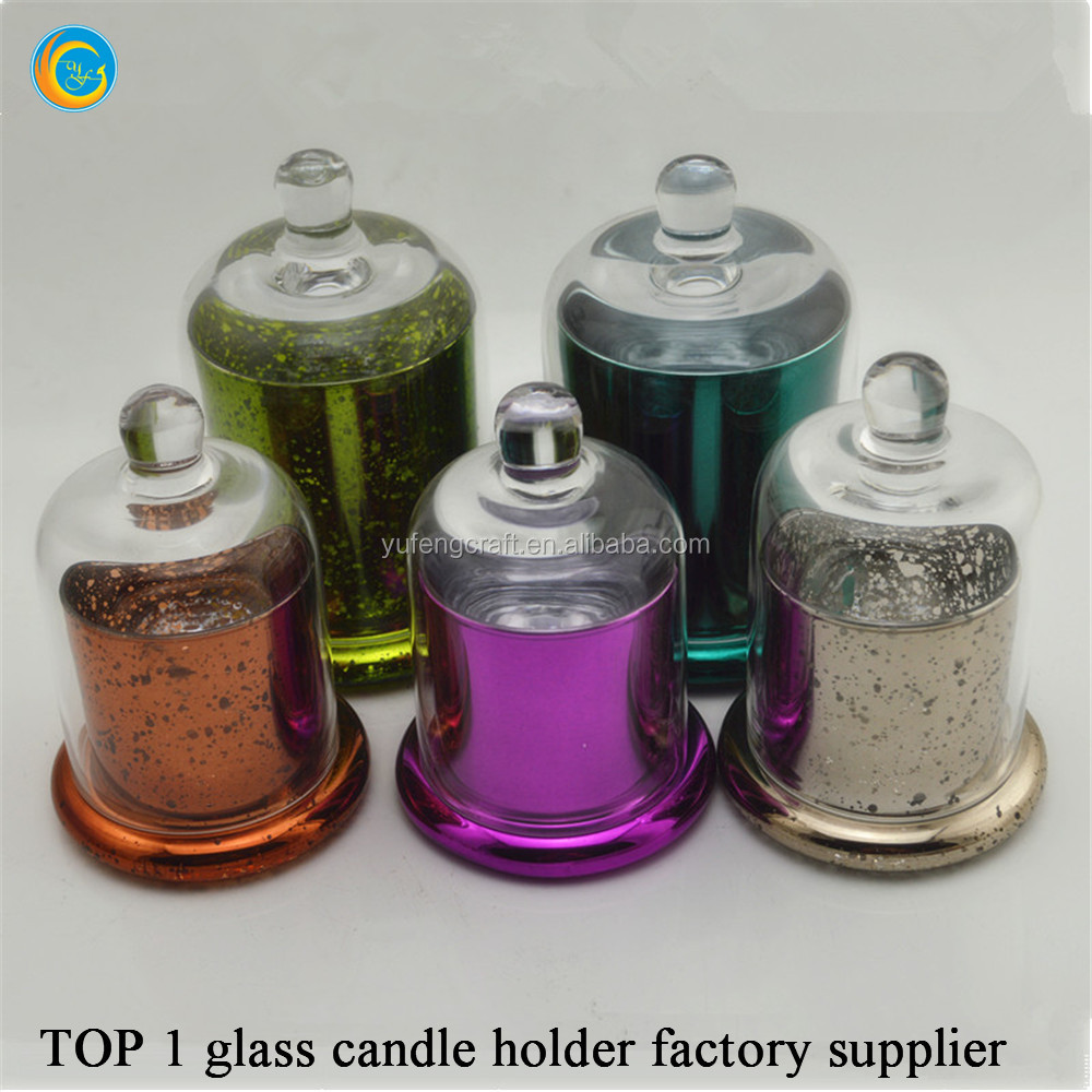 colored glass bell jar domes Yufeng factory supplier