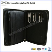 New arrival top grade leather clutch with power bank for ipad mini