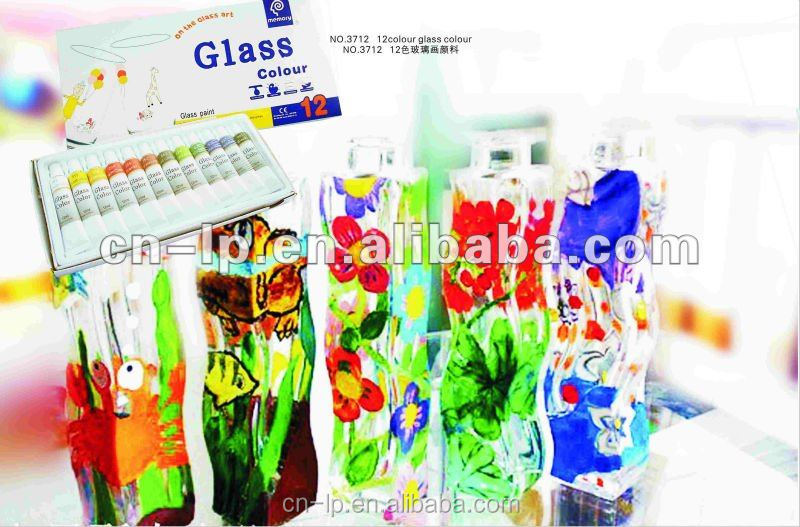 Memory Hot Sell non-toxic kids DIY glass paint 12 colors Tempered Paint Glass With High Quality