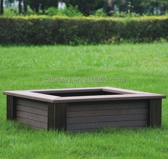 610*610*220mm cheapest wood plastic composite flower pot for garden,wpc flower box