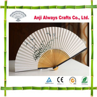 High Quality Japanese Customized Bamboo Foldable Paper Hand Fan