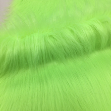 Fashion Sex girl or women fake animal fur fabric on winter Faux Fur Coats green