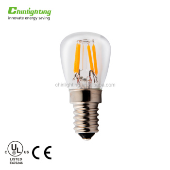 Chinlighting CE RoHs energy saving mini 1.2W E14 T20 T22 T25 Refrigerator LED filament light bulb