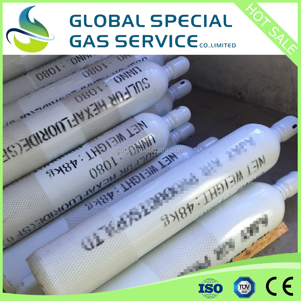 99.995% Sulfur Hexafluoride price SF6 Gas for sale