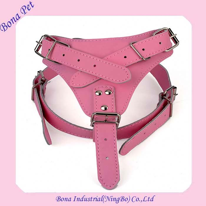Wholesale Weighted Genuine leather Dog Harness For Lager Dog