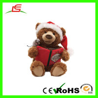 Hot Sale Teddy Bear Christmas Animated Electronic Plush Toys For Gift