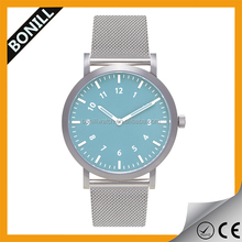 High quality Stainless steel Mesh band watch , mechanism interchangbeable Strap Watch,Watch easy to swap strap
