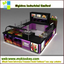 Fruit Juice bar design with juice bar equipment in mall kiosk mall kiosk