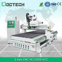 China 1325 Wood CNC Router With 6.0Kw HSD Air Cooling Spindle Yaskawa Servo Motor 750w Vacuum Table