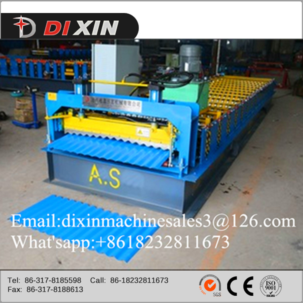 Red colour pre-painted steel sheet Roof and wall panel roll forming machine for house
