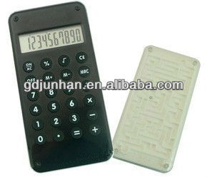 JH2040 pocket electronic 10 digit acrylic calculator with maze game